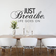 Just breathe wall decal $22