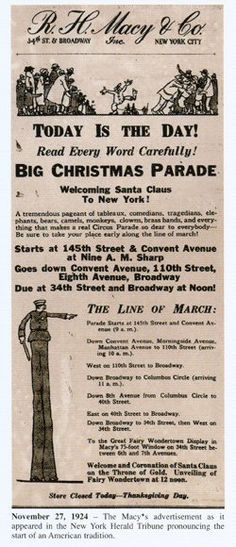 1924 macy's thanksgiving parade | two more macy s parade ads macy s thanksgiving day parade 1980