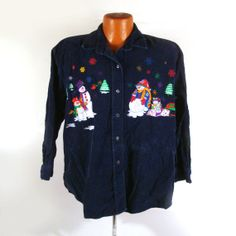 Ugly Christmas Sweater Vintage 1980s by purevintageclothing Holiday Tacky Party