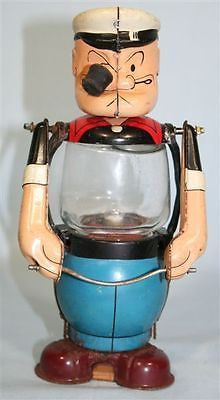 Linemar Popeye Lantern Battery toy from 50s