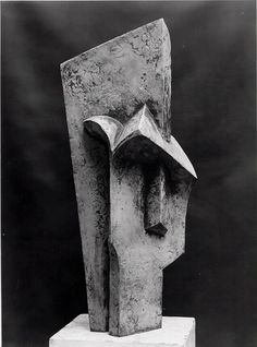 Tête, 1915 by Jacques Lipchitz Georges Braque, Sculpture Head, Abstract Sculpture, Harlem Renaissance, Modern Art, Contemporary Art, Art Pierre, Francis Picabia, Outdoor Sculpture