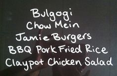 Weekly Menu - Not for Coco Beef Chow Mein, Pickled Radishes, Bulgogi, Bbq Pork, Egg Noodles, Weekly Menu, Chicken Salad, I Foods