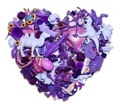 Color me Katie ~ Nostalgic Toys Purple Hues, Purple Rain, Shades Of Purple, 50 Shades, Things Organized Neatly, Heart Art, Altered Art, Art Images, Art Lessons