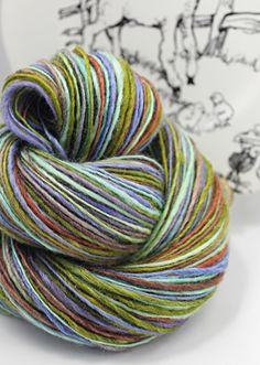 for Rose Petal Collections Handspun Yarn DK by SheepingBeauty, $44.00