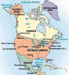 mapa da america do norte e anglo saxonica - Pesquisa Google