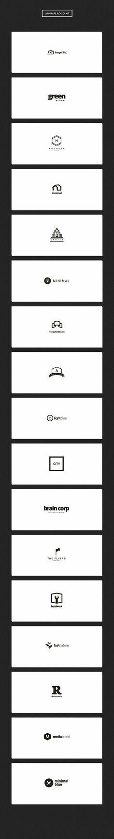 Minimal Logo Kit by DesignDistrict on @creativemarket