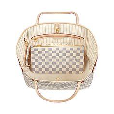 Neverfull MM Damier Azur Canvas - Handbags   LOUIS VUITTON