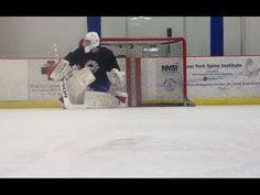 24c1240e9 Ice Hockey Goalie Skating Drills - YouTube