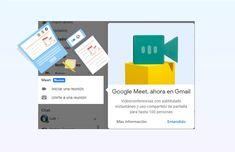 Cómo utilizar Google Meet en Gmail Google, Product Development, Web Development, Reunions