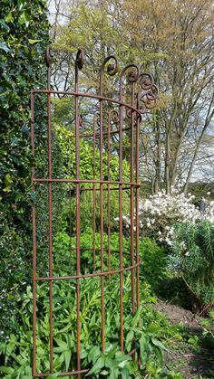 Metal Garden Trellis, Metal Garden Art, Wall Garden Indoor, Indoor Gardening, Balcony Garden, Garden Plant Supports, Flower Garden Borders, Rusty Garden, Iron Plant