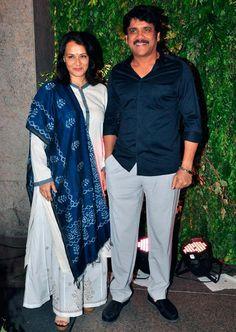 PIX: Nagarjuna, Allu Arjun at Chiranjeevi's daughter's reception Suits For Women, Ladies Suits, Samantha Photos, Indian Star, Kurti Designs Party Wear, Actors Images, Indian Models, Celebs, Celebrities