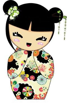 Kokeshi são bonecas japonesas, originárias do norte do país, são feitas em madeira, possuindo um tronco simples e uma grande cabeça, não ...