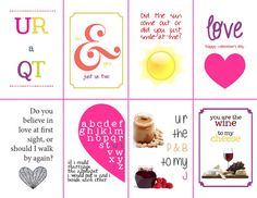 even more free Valentine's Day card printables!