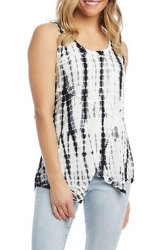 How to hide your belly with fabulous clothes - hide that tummy! Dress To Hide Belly, Apple Shape Outfits, Capsule Outfits, Karen Kane, Tie Dye Patterns, Tie Dyed, Dresses For Work, Clothes For Women, Tank Tops