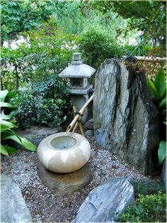 Japanese Zen Garden in Monte Carlo France by Genelle Clarke