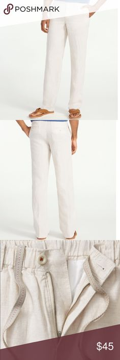 NWT MENS Tommy Bahama New Linen on the Beach Pant Color: Natural Linen All NWT straight out of the box, model pictures from tommybahama.com. Size small pictured but others available, all NWT in appropriate sizes. Tommy Bahama Pants