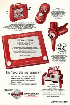 Toys from the 1960s- original Etch-a-Sketch ad.
