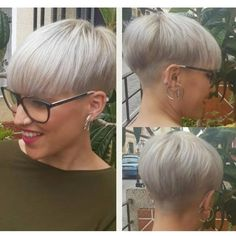 Back of the hair - Shorts with glasses - # .- Back of hair – shorts with glasses – # backside # … – - Short Razor Haircuts, Short Wedge Hairstyles, Latest Short Hairstyles, Pixie Hairstyles, Pixie Haircut, Cool Hairstyles, Blonde Pixie, Short Blonde, Short Hair Cuts For Women
