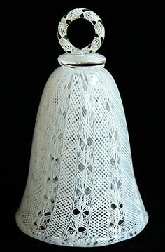 White Filigree Bell with Ring Handle