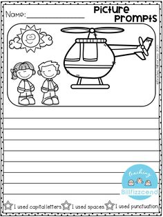 FREE Writing Prompt: Picture Prompts Writing for first grade. This is also great for kindergarten and second grade to build confidence in writing. free writing prompts, freebies, tpt freebies, free kindergarten printables, kindergarten writing, first grade writing, opinion writing, picture prompts.