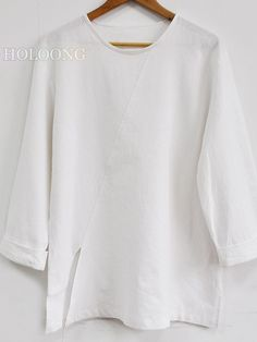 Bottoming shirt New style Chinese Loose White Men Tops