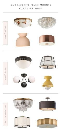 Roundup our favorite flush mount lighting for every room