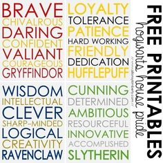 what are the attributes of each of the hogwarts houses - Google Search
