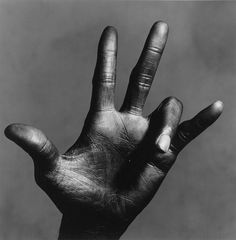 The Hand of Miles Davis, New York, 1986. Photographed by Irving Penn.
