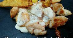 Fabulosa receta para Solomillo de pavo en salsa de queso. Hice la salsa en la Monsieur Cuisine