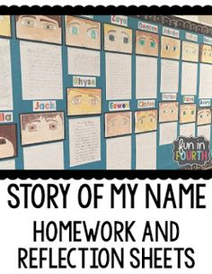 Story of my Name Writing 4th Grade Writing, Writing Classes, Name Writing, Teaching Writing, Writing Activities, Fourth Grade, Writing Prompts, Middle School Ela, Beginning Of The School Year