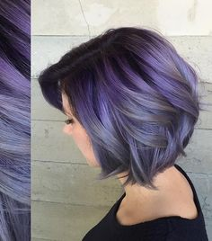 Purple ombre black shadow root