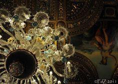 Fascinating chandelier at Peles Castle Peles Castle, European Decor, Eastern Europe, Romania, Cottages, Castles, Lens, Chandelier, England