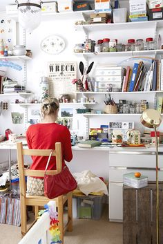 Studio space for writers, artists, crafters, creatives. #studio #inspiring #artist