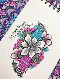 ideas for nature mandalas drawing zentangle Nature Drawing, Plant Drawing, Art Nature, Nature Plants, Mandala Doodle, Mandala Drawing, Drawing Flowers, Doodle Drawings, Doodle Art