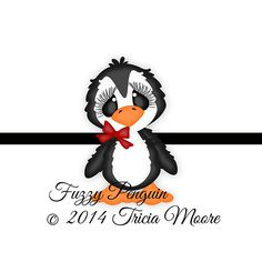 Fuzzy Penguin  svg, gsd, dxf, wpc, ai, pdf, png, and jpeg