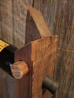 Reclaimed Barn Beam Wine Rack 2 Bottle