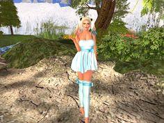Martinas Inworldz Journey: MySin Candy Dress with Socks & A&A Harleen Hair Candy Dress, Modeling, Blogging, Strapless Dress, Journey, Socks, Hair, Dresses, Women