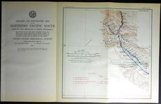 1915 Railroad Map Granger, Wapato, North Yakima, Scudder, Moxee City, Yakima River Washington WA. Northern Pacific Rail Antique. Map Vintage