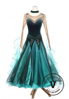 Forest Elf Queen Elegant Lady Standard Smooth Foxtron Waltz Competition Ballroom…