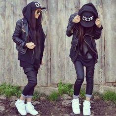 # for Hoodies For Women Street Style Hoodi Tomboy Outfits hoodi hoodies street Style women Estilo Dope, Estilo Tomboy, Tomboy Stil, Hip Hop Fashion, Tomboy Fashion, Dope Fashion, Urban Fashion, Style Fashion, Fashion Beauty