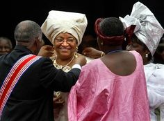 Ellen Johnson Sirleaf is the 24th and current president of Liberia, and was the first female head of state to be elected in Africa. She was also awarded the Nobel Peace Prize in 2011 along with 2 other women for their non-violent struggle for women's rights.