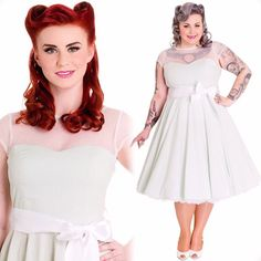 We can't wait to slip on some white pumps and a vintage-inspired hair flower and show off this outfit! #blamebetty #mintdress #vintageinspired