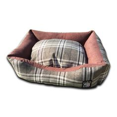 GB Pet Beds Country Check Chatsworth Nutmeg Sofa Dog Bed