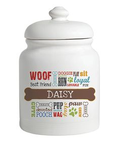 This Dog Words Personalized Treat Jar by Personalized Planet is perfect! #zulilyfinds