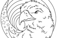 Bald Eagle Coloring Pages ~ Free Printable Coloring Page For Kids