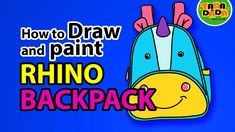 How to draw and paint BACK PACK with RHINO   STEP BY STEP   TADA-DADA Ar...