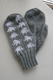 Ravelry: Elephant mittens pattern by Emmelie Cedergren