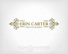 Premade Logo Design & Watermark Customizable for Small Business - photography, ornate, vintage, antique, scroll, flourish