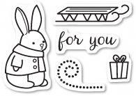 This clear photopolymer stamp sheet has 5 remountable photopolymer stamps. Bunny is approx. Works Great with Memory Box Open Studio Die Bunny Gift Set Memories Box, Box Bunny, Scrapbook Box, Scrapbooking, Ink Stamps, Simon Says Stamp, Clear Stamps, Coloring Pages, Cards
