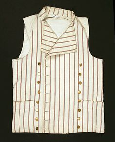 Waistcoat  Date: 1785–95 Culture: British Medium: cotton Dimensions: Length at CB: 24 3/8 in. (61.9 cm) Credit Line: Purchase, Irene Lewisohn Bequest, 1988 Accession Number: 1988.242.1  This artwork is not on display